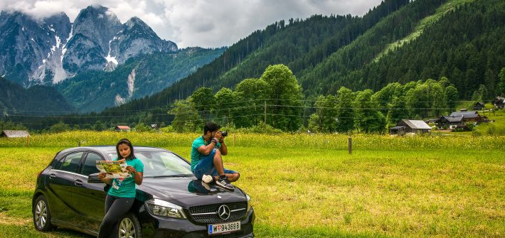 Road trip in Austria passing through Gosau village by Travel Anubhav.