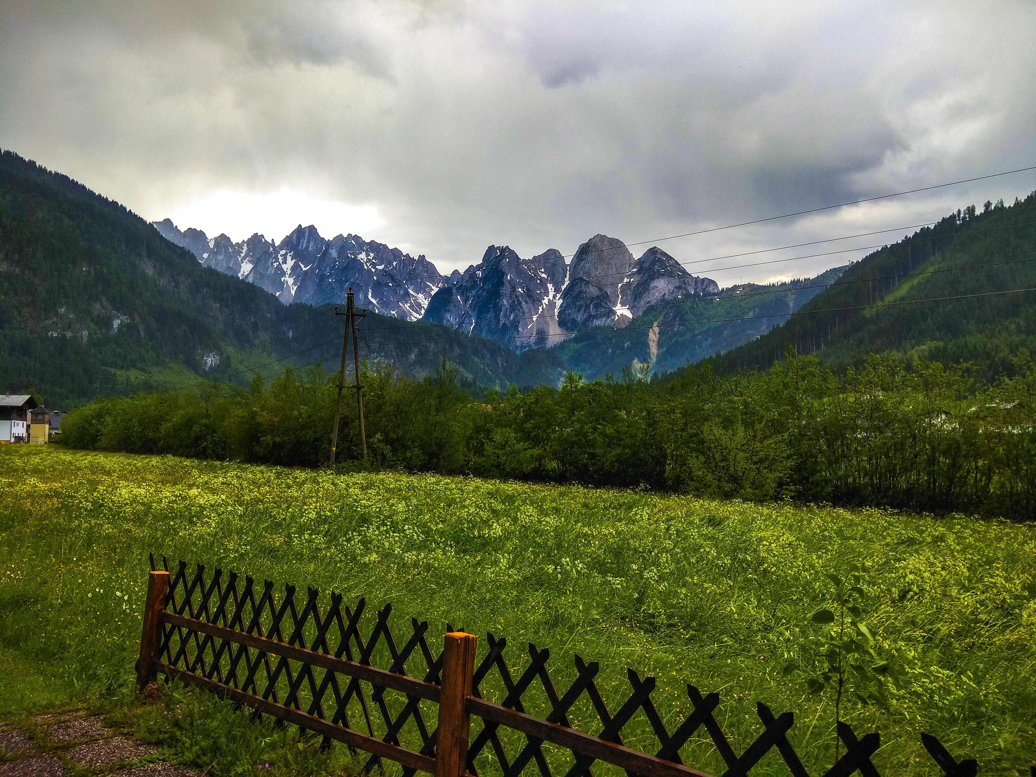 View of the peaks of Zwieselalm on the backside of our guesthouse.