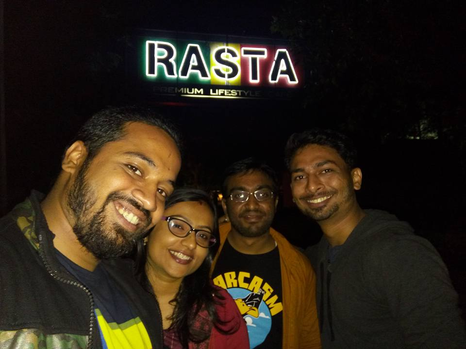 Night out ride at rasta cafe in Bangalore by Travel Anubhav