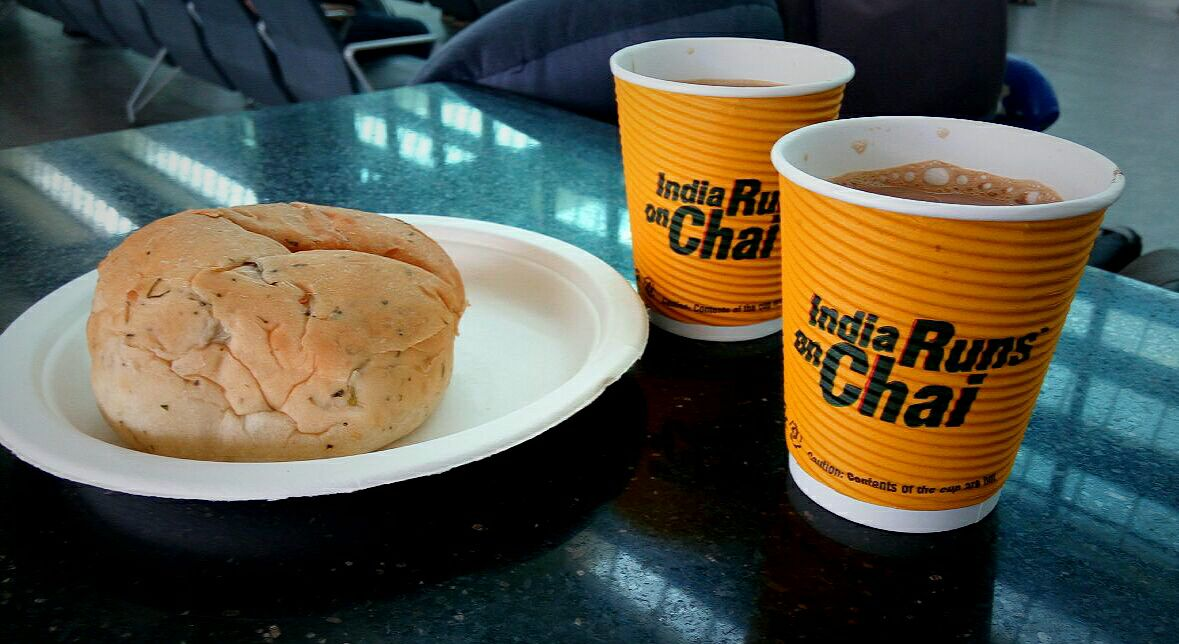 Chai point with bun muska is the must to have at Bangalore Airport