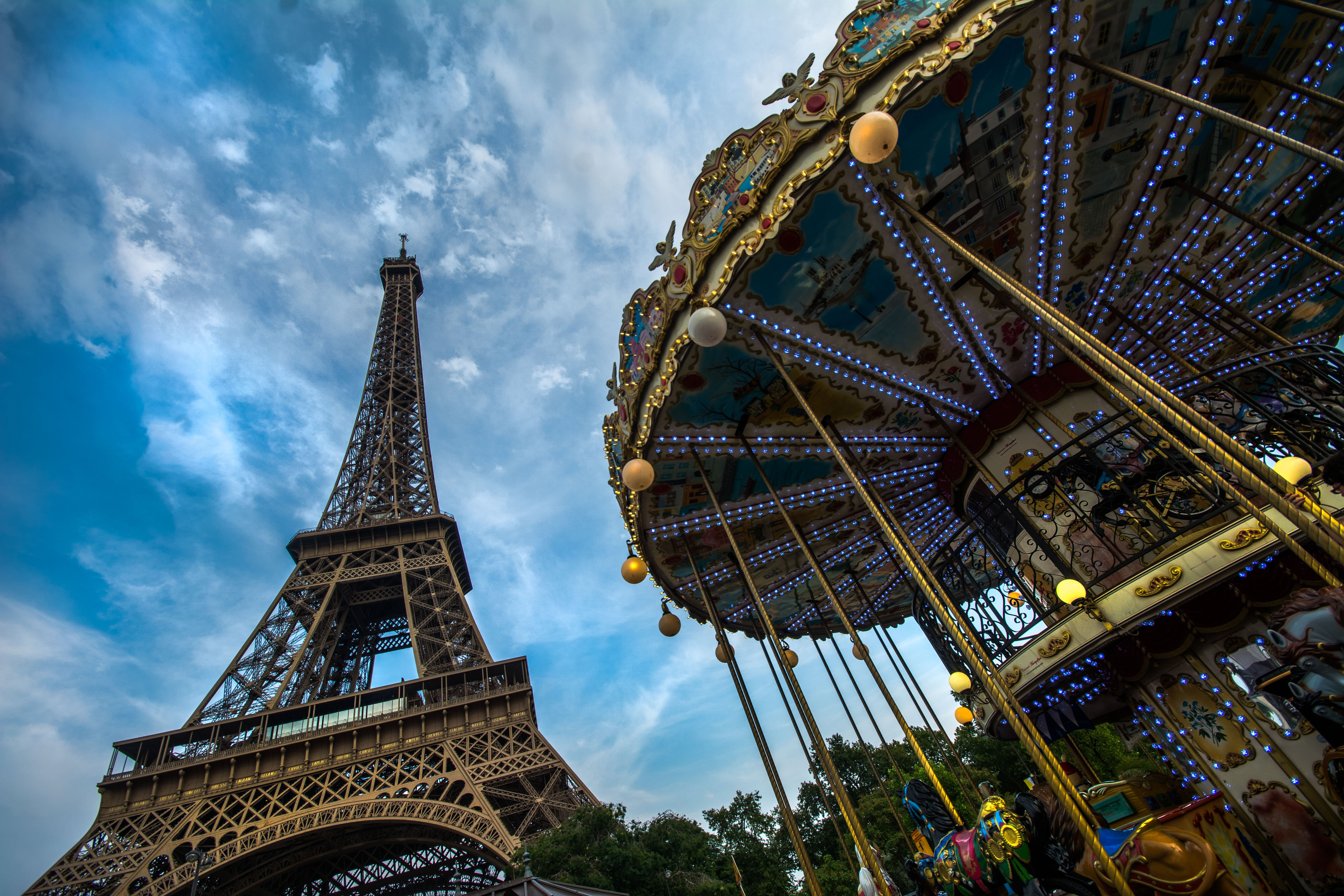 Carousel in front of the Eiffel Tower by Travel Anubhav