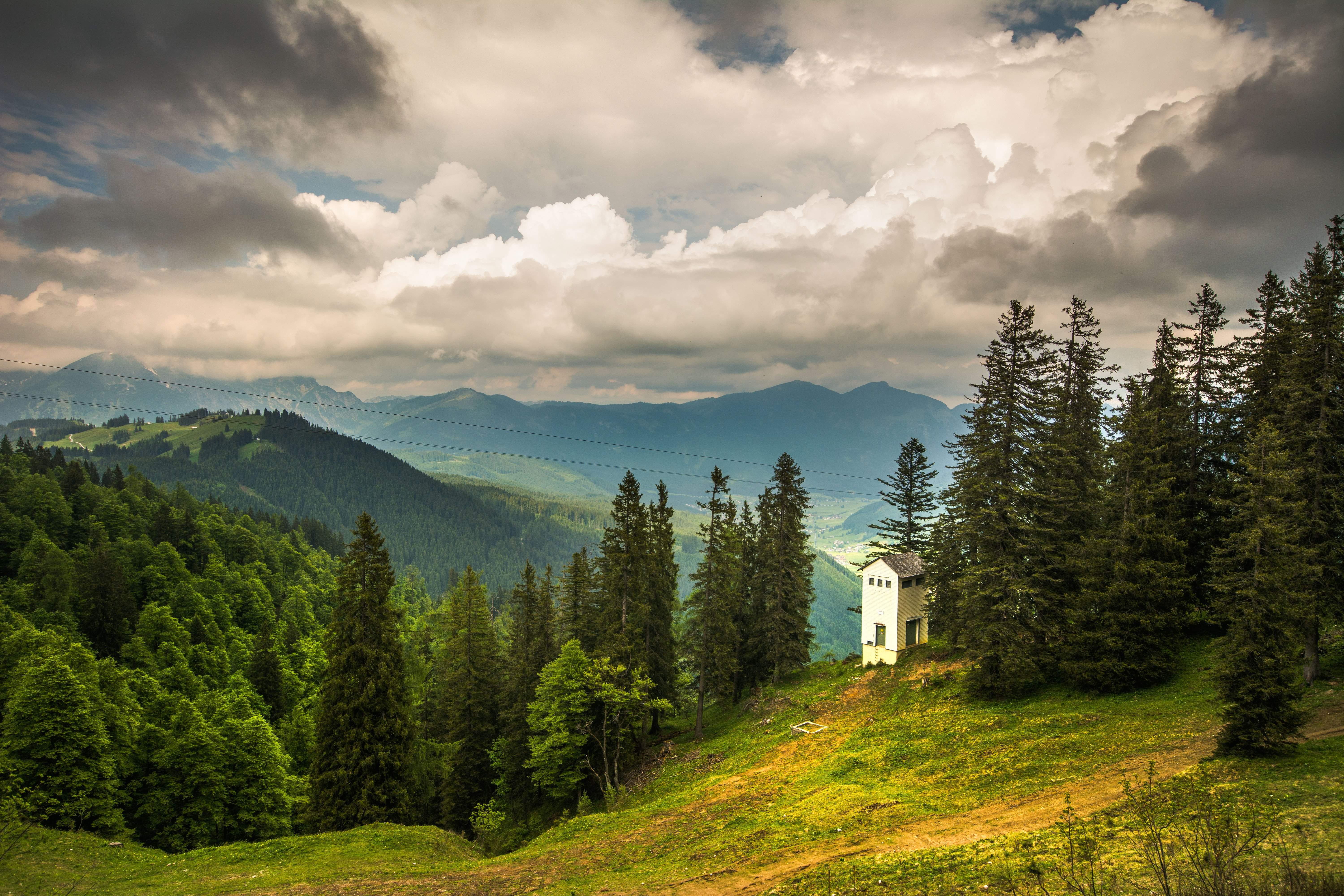 Lone church at the top of Zwieselalm, Austria.