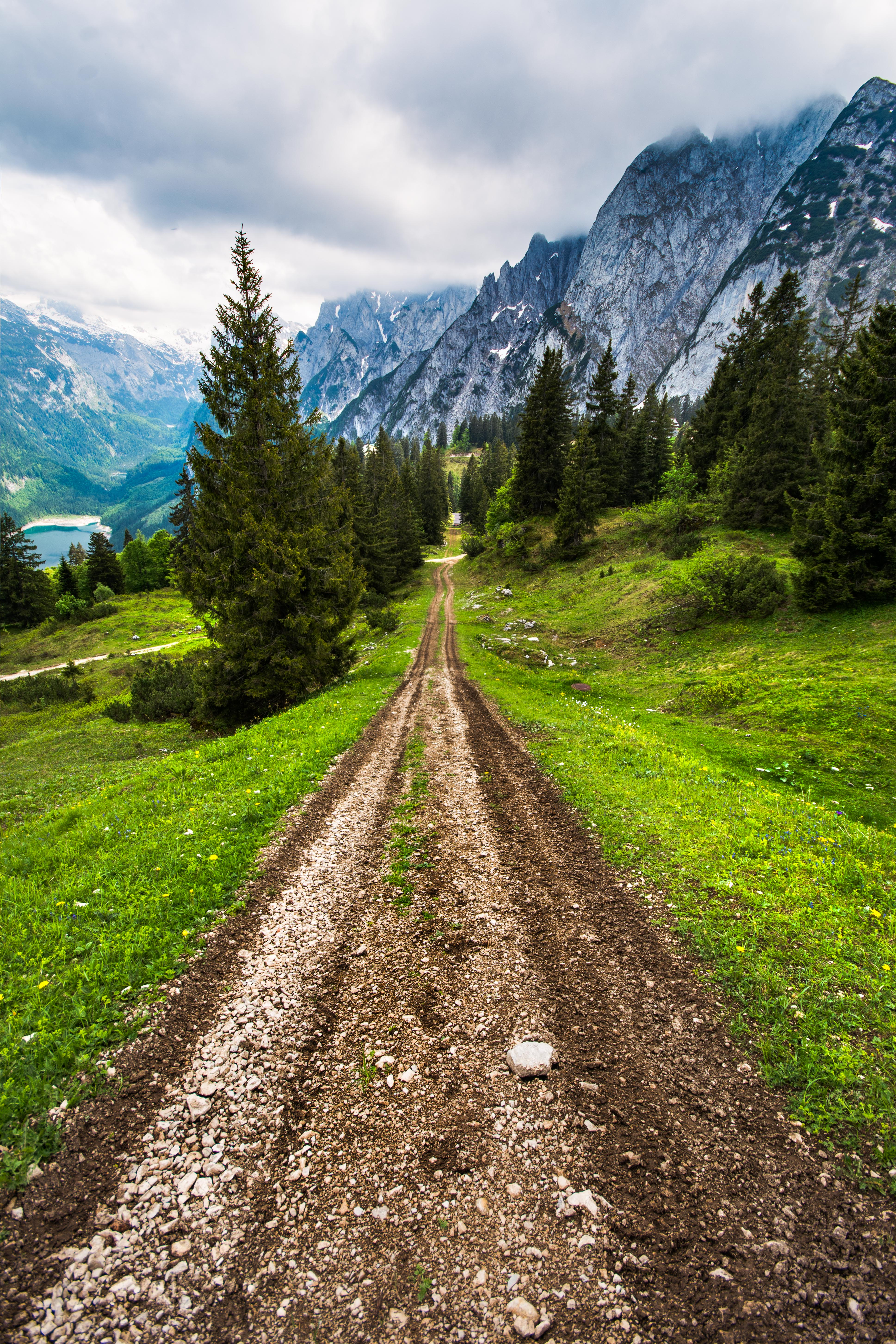 One road that leads to no where in the woods. I remember we were just running on this mud road with Gopro on. It was super fun in Gosua Dachstein Austria which made our couple summer holidays rememberable : TravelAnubhav ( Travel Anubhav).
