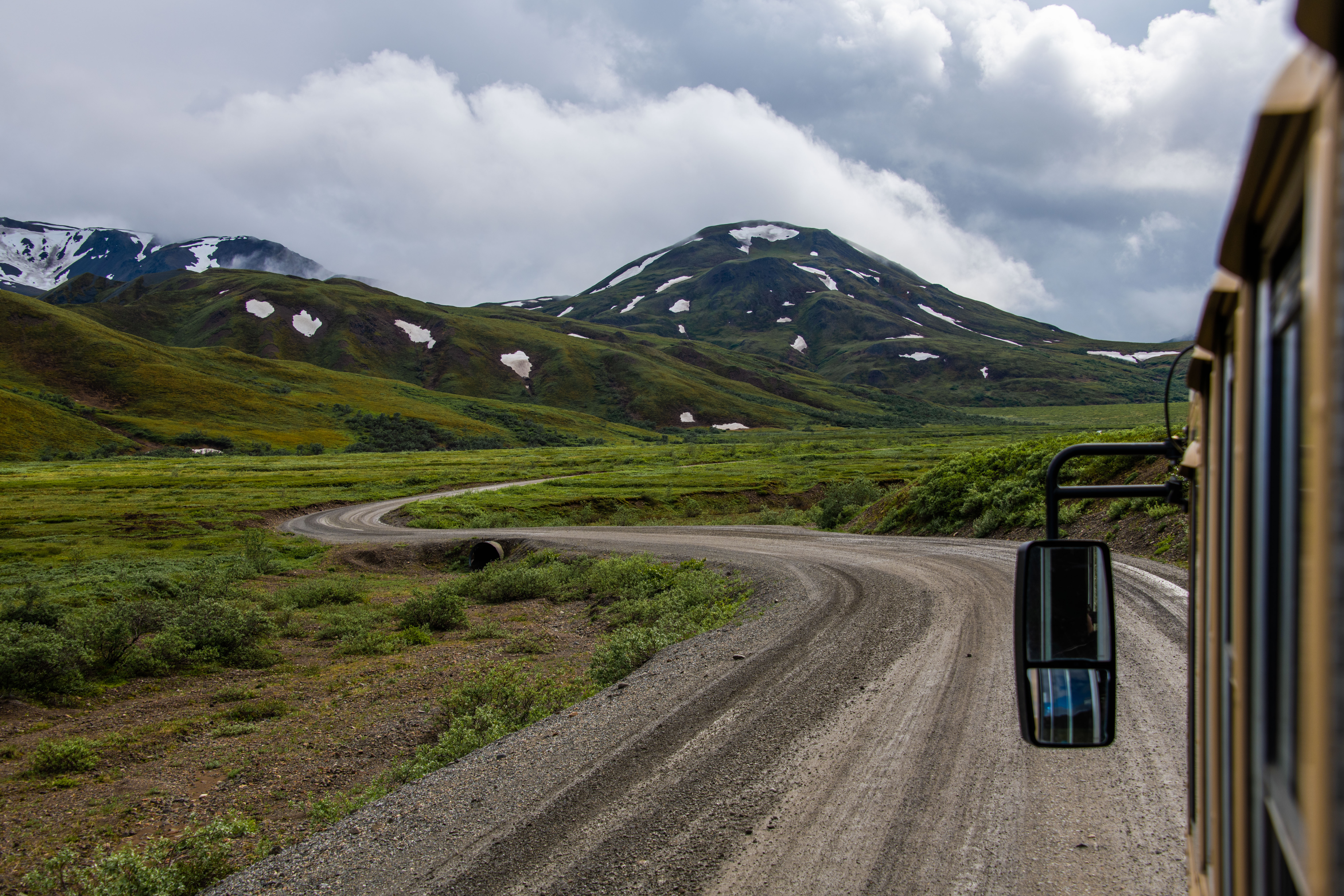 100 mile long road goes inside Denali National park with varying landscapes by Travel Anubhav.